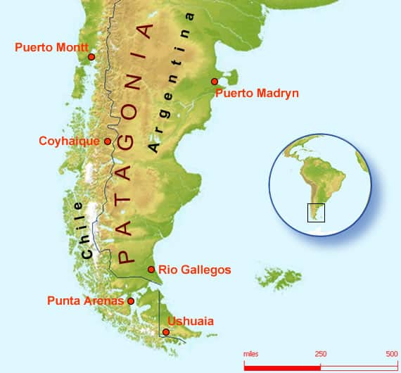 South American Coasts – Patagonia and Chile