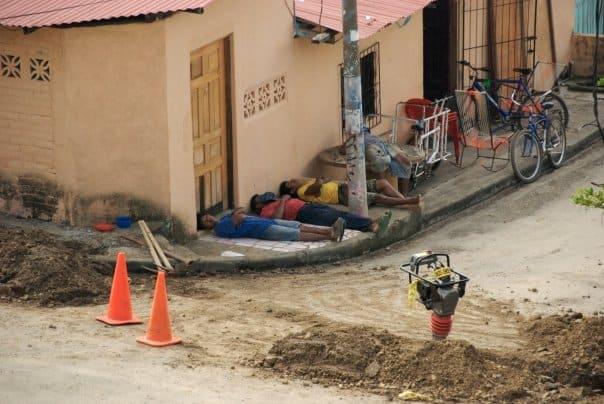 workers on siesta latin america