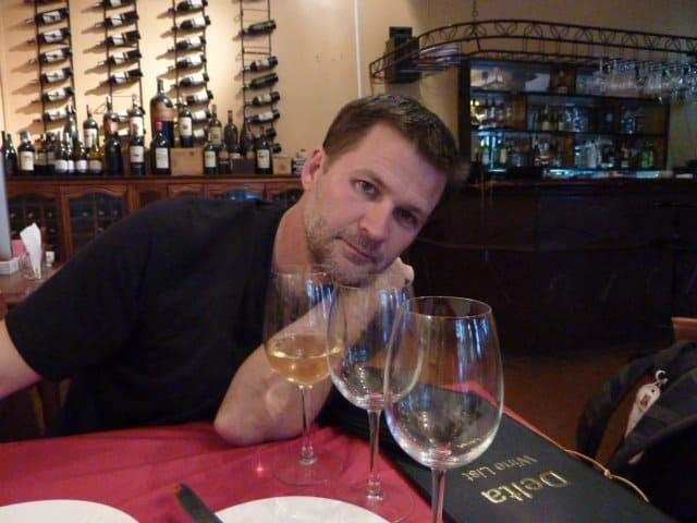 michael hodson drinking wine