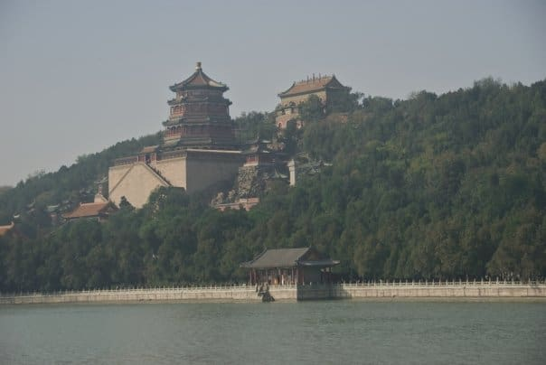 hazy view of the Summer Palace
