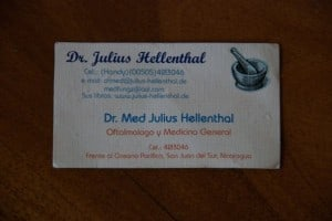 crazy doctor business card dr. hennenthal in nicaragua