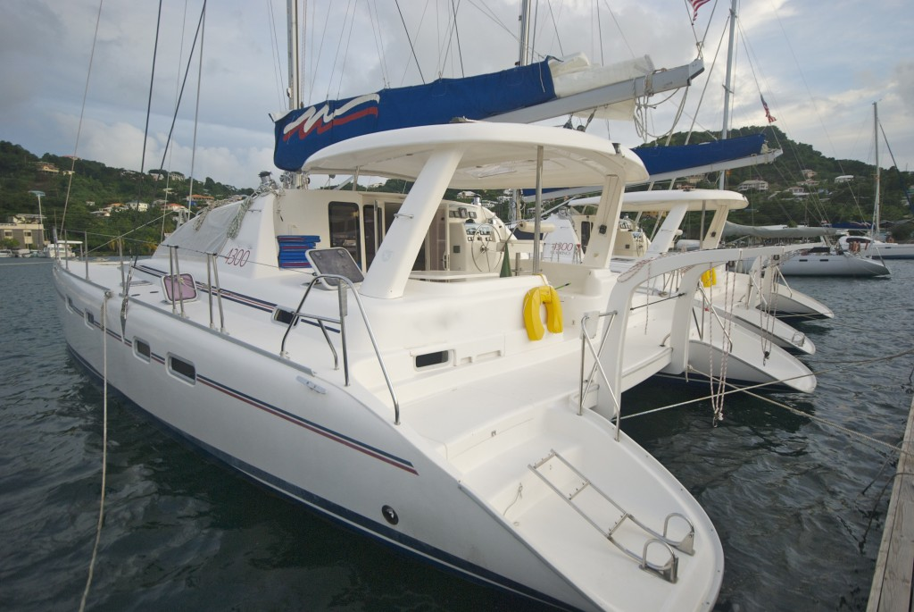my 42 foot catamaran home