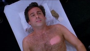 Steve Carell chest hair scene in 40 year old virgin