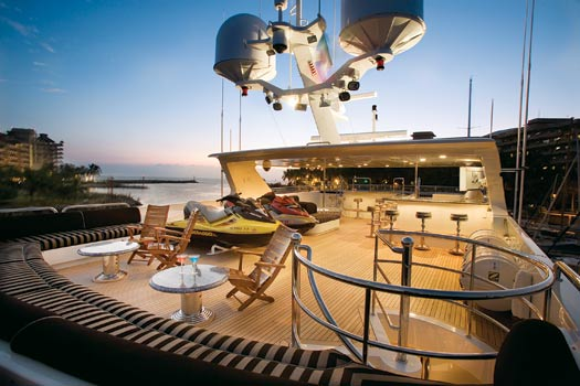 the top deck, built for parties