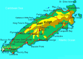 map of tobago