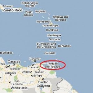 map showing how close trinidad is to venezuela