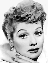 young lucille ball b&w