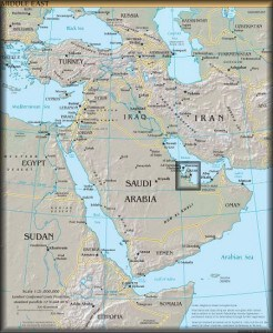 qatar map in the middle east, location of the 2022 world cup, map of qatar, quatar map