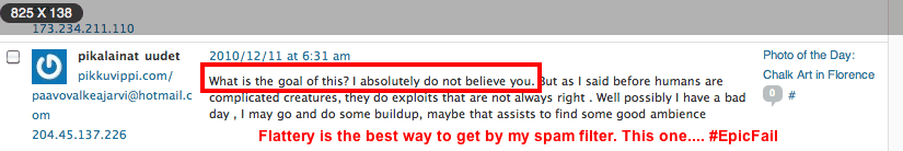 comment spam on my RTW overland blog
