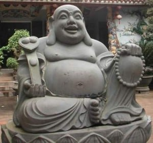 Fat buddha statue