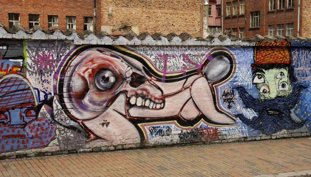 woman doggy style bogota street art graffiti