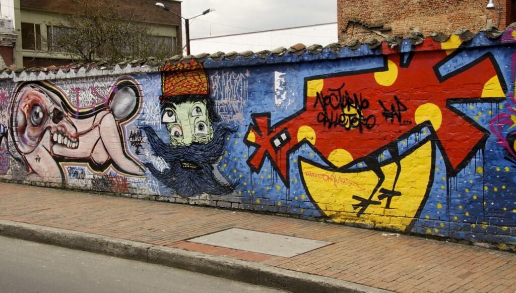 red chicken bogota street art graffiti
