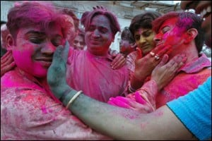 colorful holi festival india