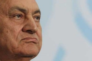 hosni mubarak staring right egypt #jan25