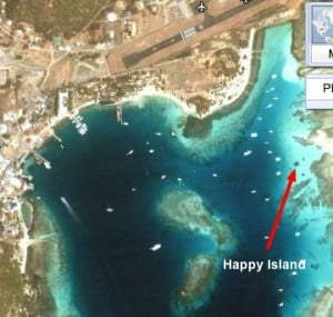happy island map, union harbor with happy island