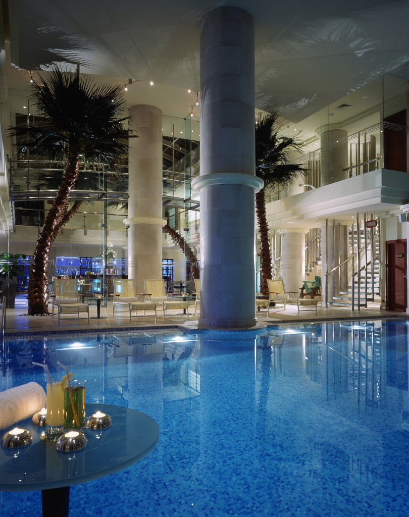 the pool at the spa...