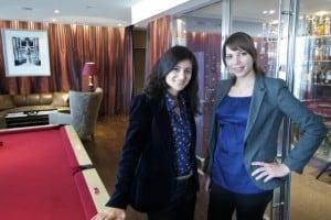 Maya Hanna and Ariane Massaad PR Phoenicia Hotel Beirut