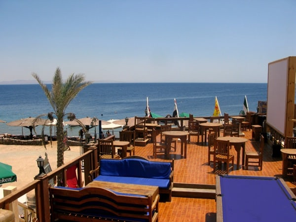 upstairs terrace bar red sea relax resort dahab egypt