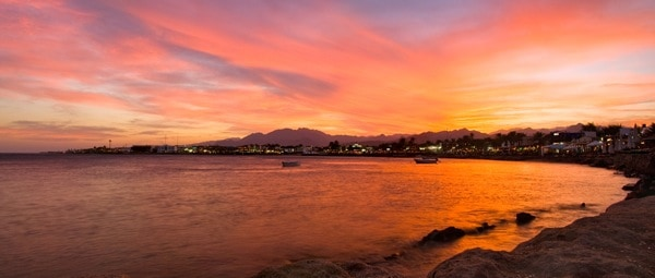 dahab bay sunset egypt