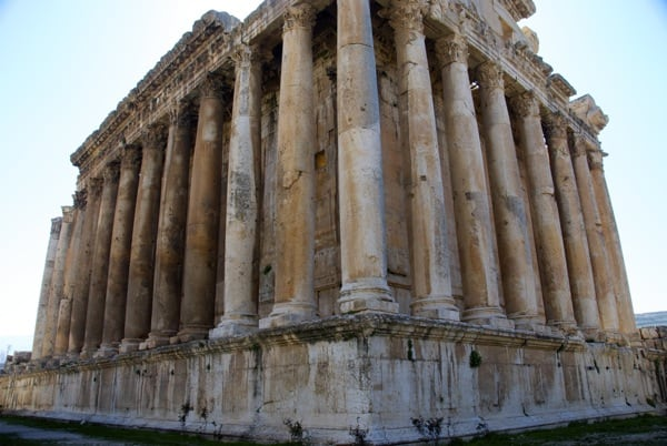 Temple of Bacchus Baalbek Lebanon