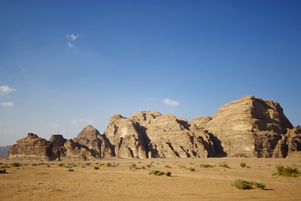 the harsh, but beautiful landscape of Wadi Rum
