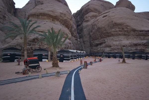Captain's Desert Camp tents Wadi Rum Jordan