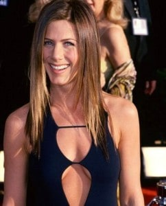 jennifer aniston open front dress