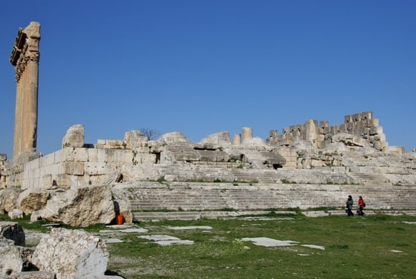 main steps Temple of Jupiter Baalbek