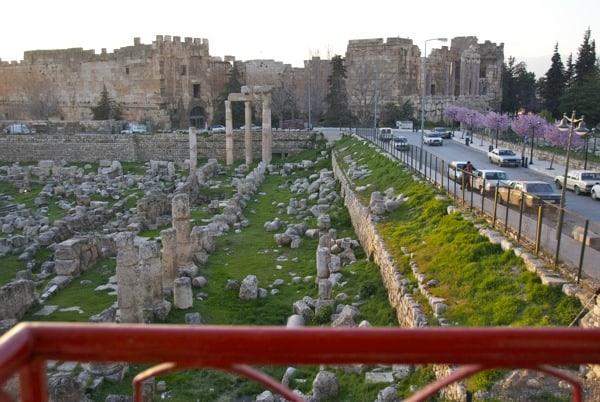 view from hotel room baalbek lebanon
