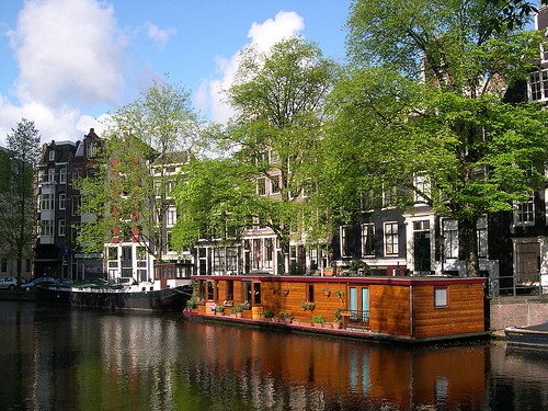 amsterdam houseboats on canals netherlands