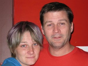 Michael Hodson and Jenny Leonard after getting tear gassed Vancouver riots