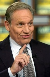 smiling Bob Woodward on Meet the Press
