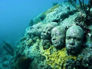 underwater sculpture garden grenada island scuba snorkeling