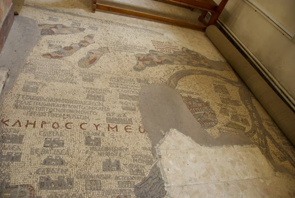 mosaic map church of the map madaba jordan