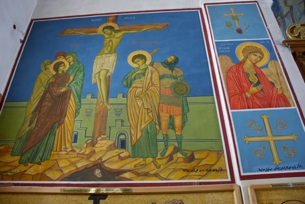 more paintings on the wall of the church