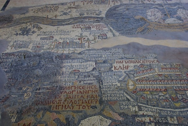 church of the map madaba jordan mosaic map holy land