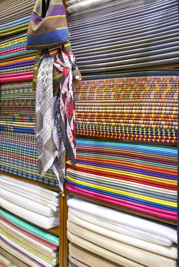 fabric store in Damascus souk