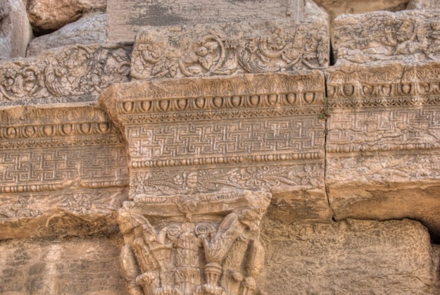 Palmyra carvings close up shot