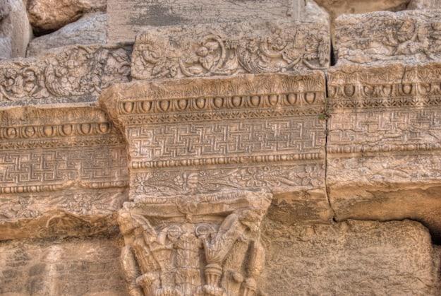 Palmyra carvings close up shot