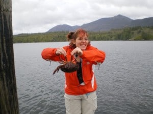 nora dunn holding crab
