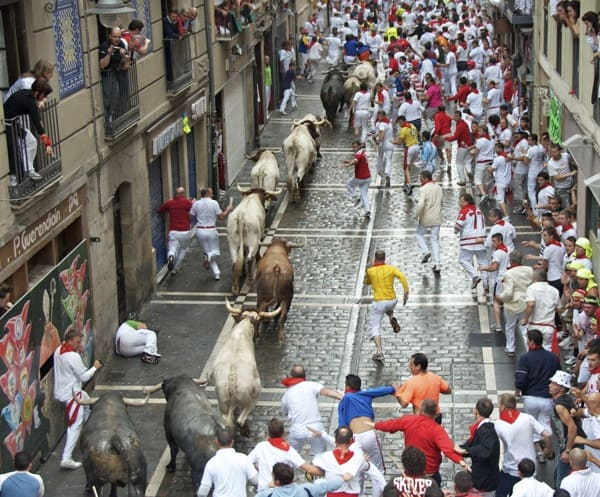 trampled at running of the bulls in pamplona spain