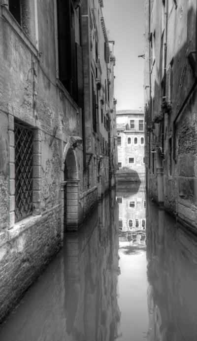 although the colors are great in Venice, I like some B&W here also