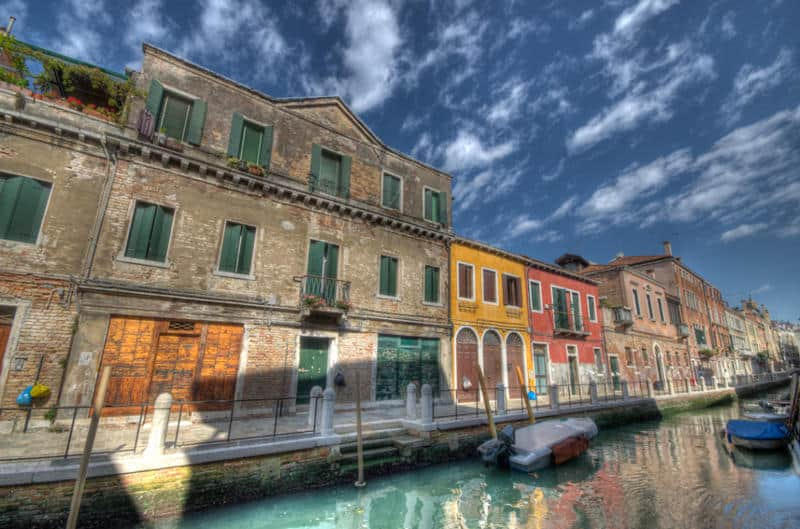canals of Venice Italy in HDR