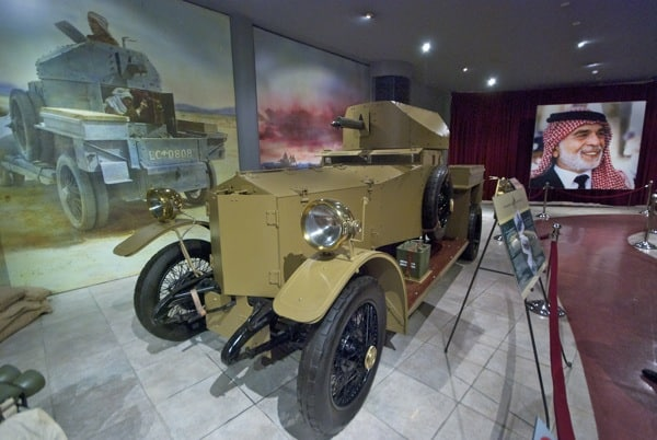 WWI armored car at Royal Automobile Museum in Amman Jordan