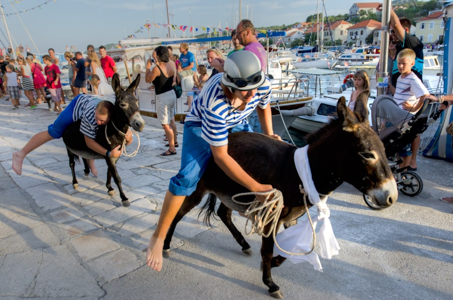 Sali Summer Festival Donkey Race in Croatia