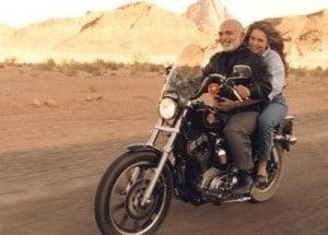 king hussein queen noor motorcycle riding at wadi rum