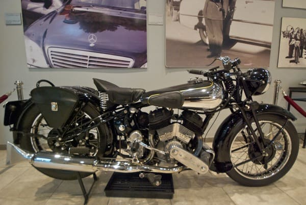 motorcycle at Royal Automotive Museum in Amman Jordan