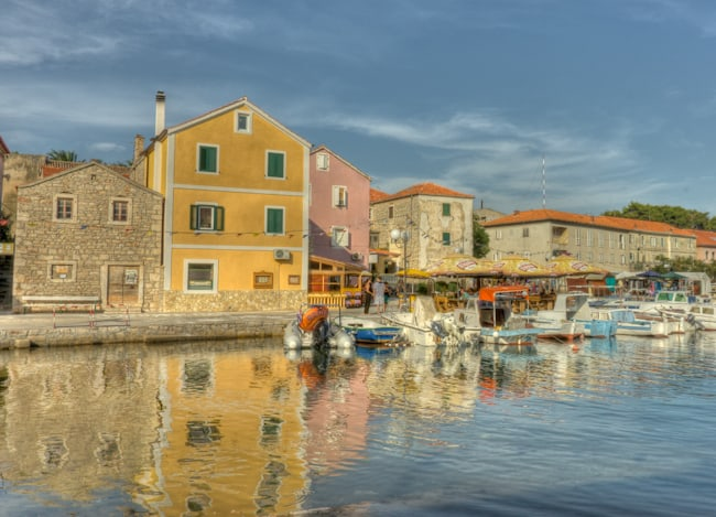 Sali harbor in croatia