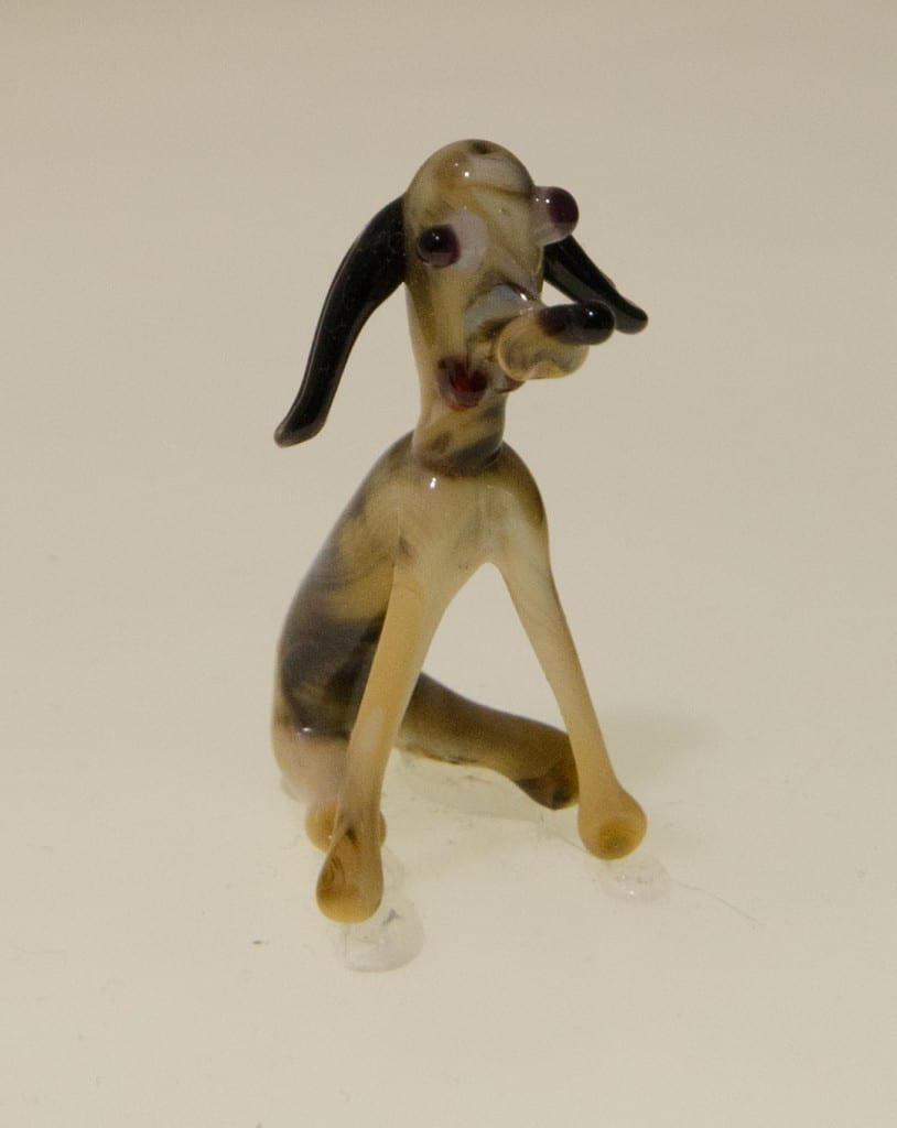 small ceramic dog museum of broken relationships exhibit