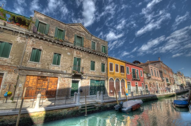 one of the Venice Canals in HDR